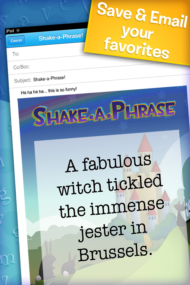 Shake-a-Phrase: Fun With Words and Sentences App - 5