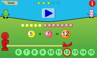 Adding Numbers to 10 and to 20 App - 3
