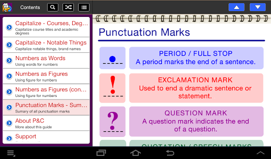 Punctuation & Capitalization App - 3