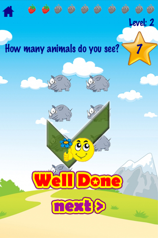 123 Animals Counting - Kids / Toddler Voice Flash Cards Game App - 4
