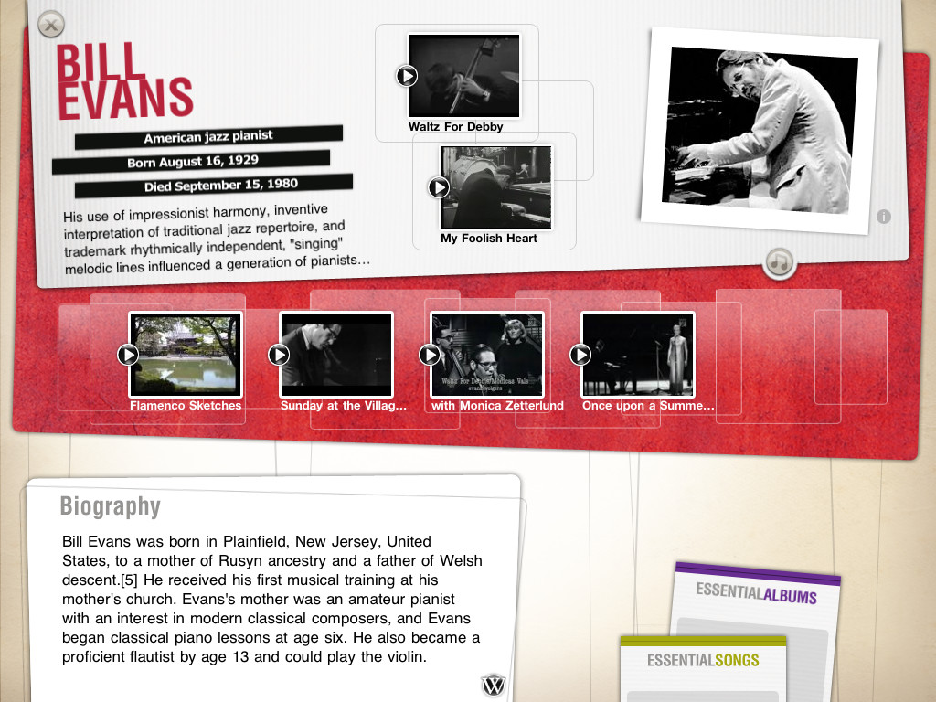 The History of Jazz - an interactive timeline App - 3