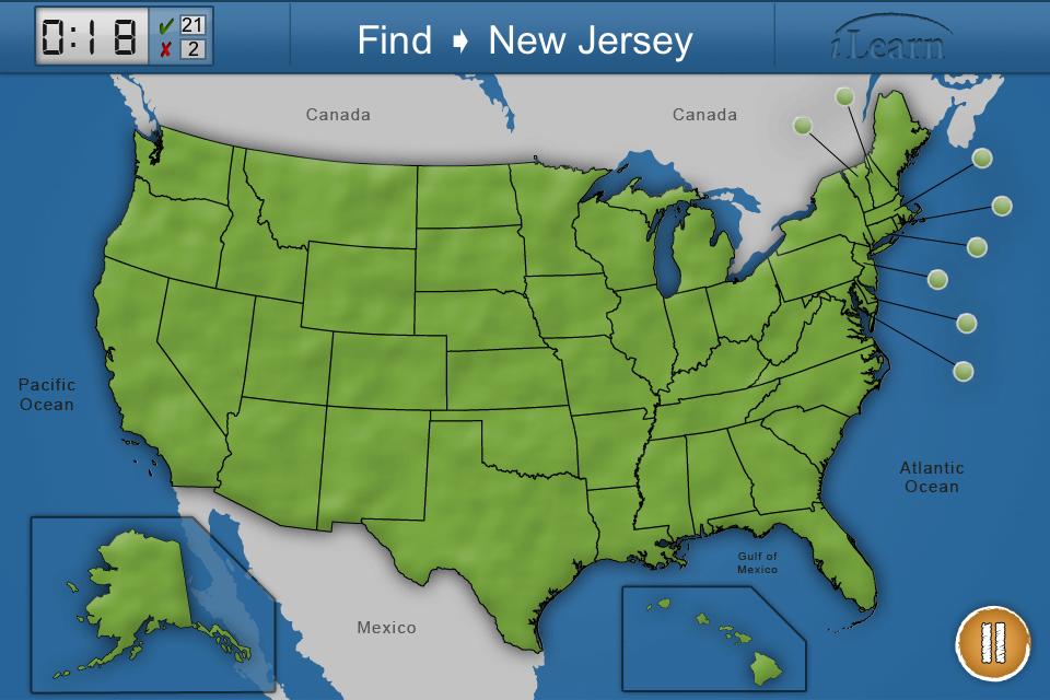 iLearn: US States App - 2