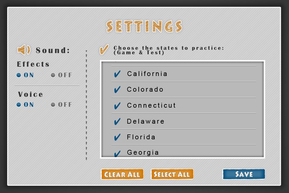 iLearn: US States App - 4