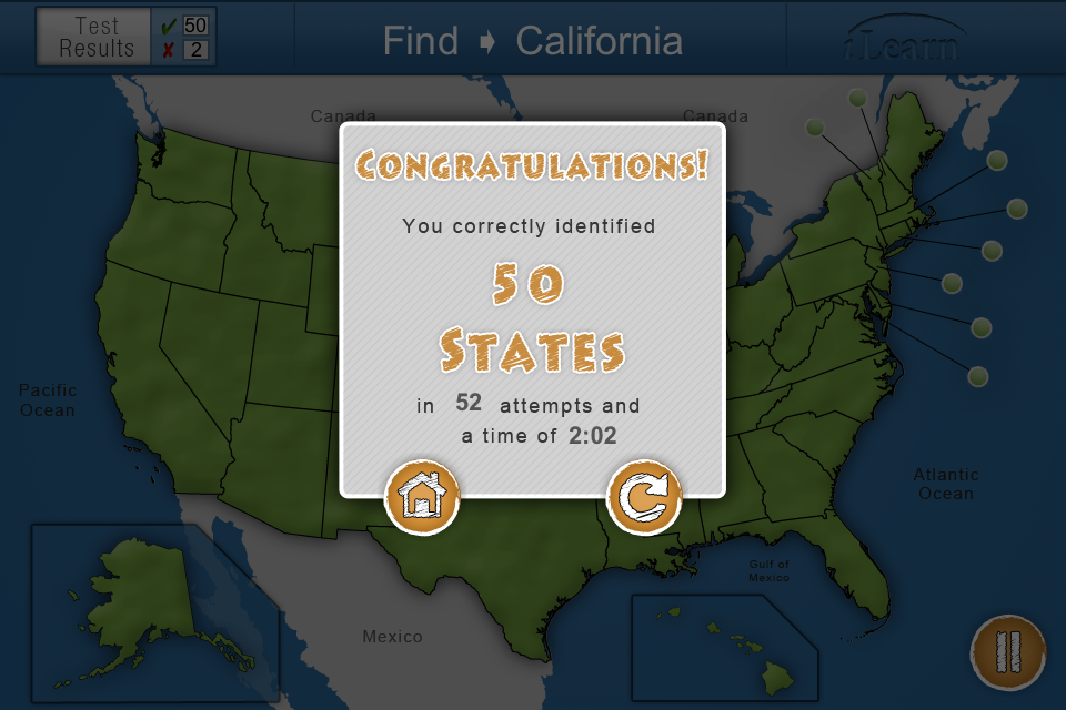 iLearn: US States App - 5