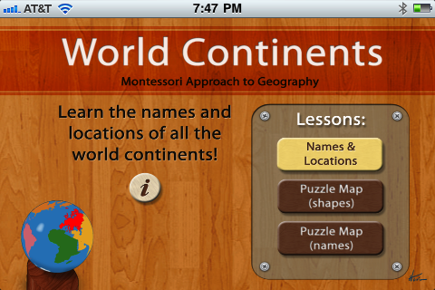 Montessori Approach To Geography - Continents App - 1