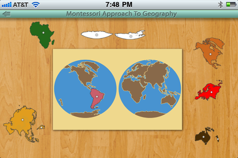 Montessori Approach To Geography - Continents App - 4