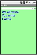 I write!