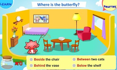 Prepositions of Place for Kids App - 2