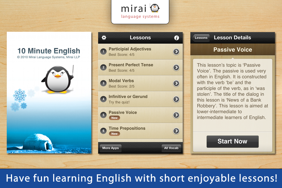 10 Minute English - Mirai English (Mirai Language Systems)-1