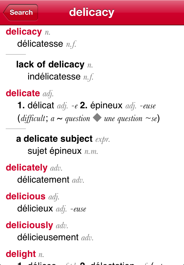 French-English Dictionary from Accio-2