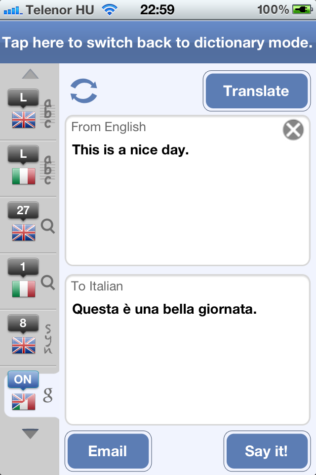 Italian English Dictionary and Translator (Il Vocabolario Italiano - Inglese)-6