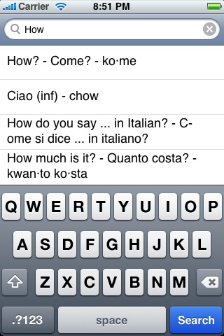 English-Italian Language Translator Phrasebook App - 4