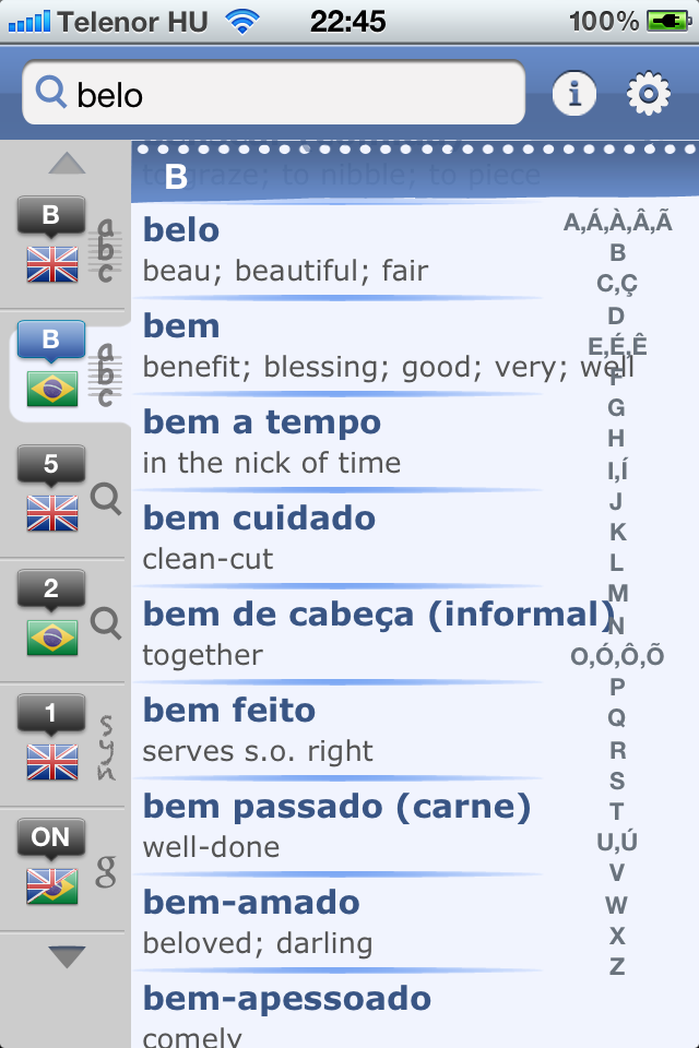 Brazilian English Dictionary & Translator-1