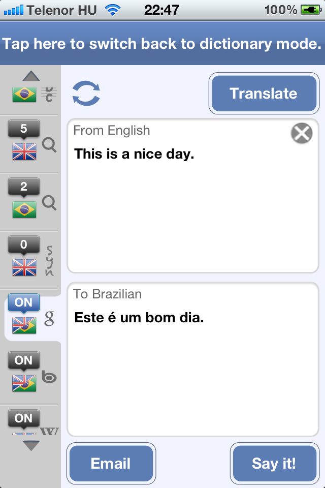 Brazilian English Dictionary & Translator-3