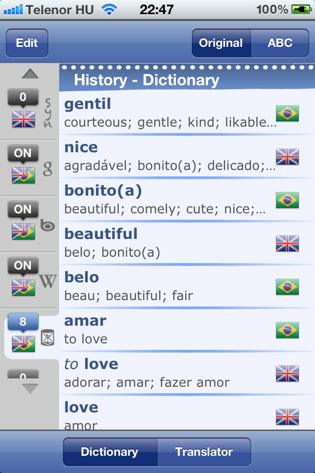 Brazilian English Dictionary & Translator-4