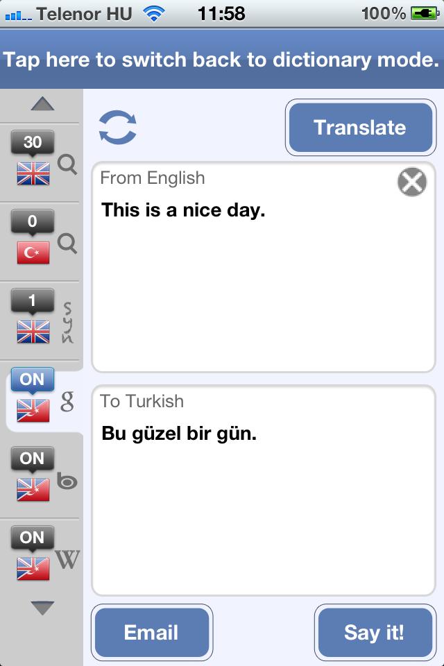 Turkish English Dictionary and Translator-6