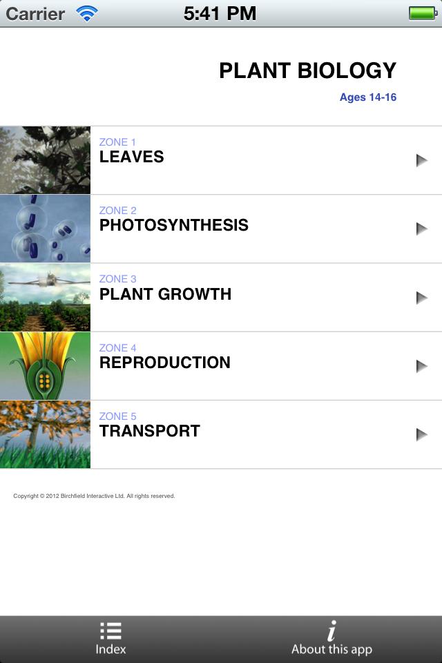 GCSE Biology - Plant Biology App - 1