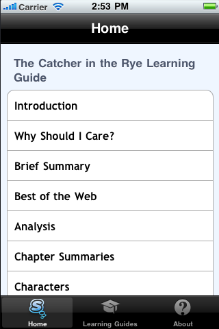 The Catcher in the Rye Learning Guide App - 2
