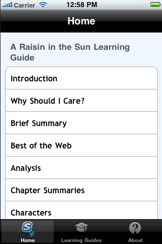 A Raisin in the Sun Learning Guide