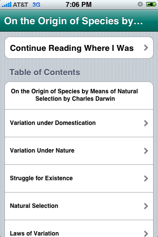 On the Origin of Species, 6th (ebook) App - 1