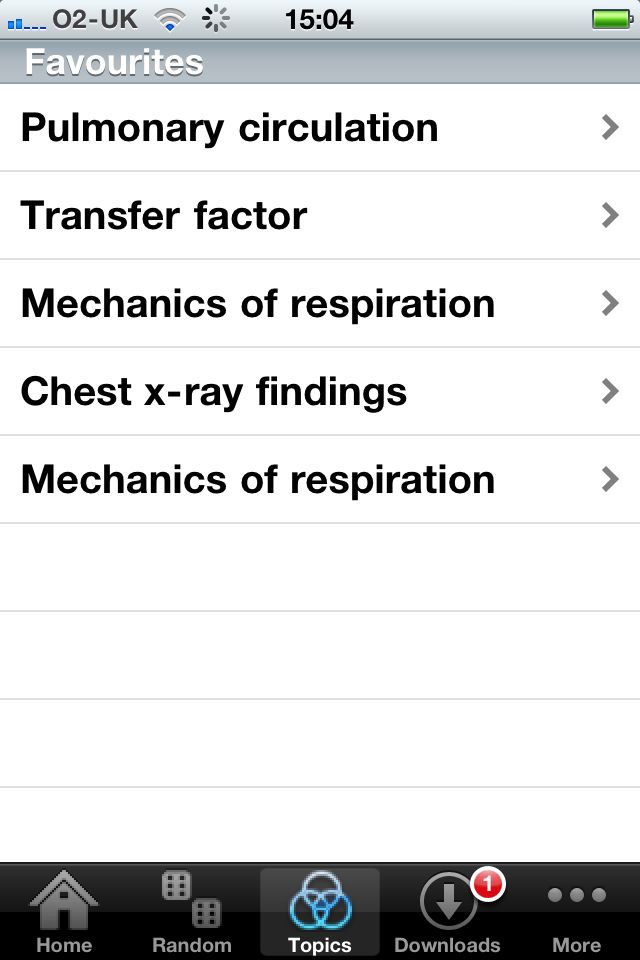 Clinical Sciences – Respiratory App - 5