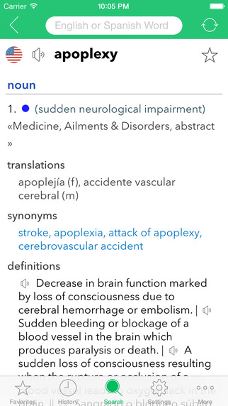 English-Spanish Medical Dictionary App - 1