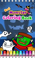 Boo! Monster Coloring Book-1