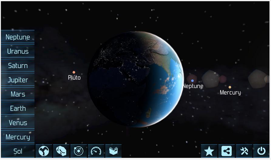 Solar System Explorer Lite App - 1