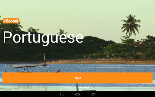 Learn Portuguese with Babbel App - 1