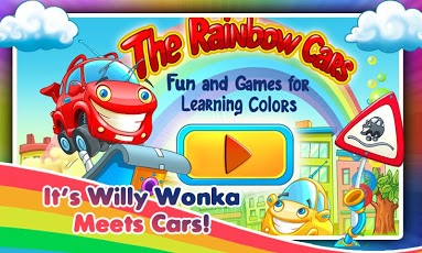 Rainbow Cars: Kids Colors Game App - 1
