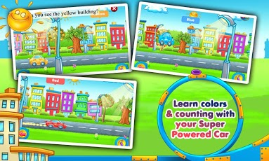 Rainbow Cars: Kids Colors Game App - 2