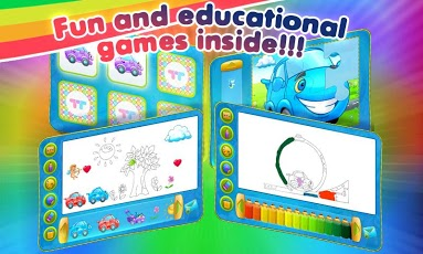 Rainbow Cars: Kids Colors Game App - 3