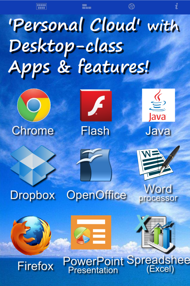 AlwaysOnPC Chrome Browser, Flash Player and Office Suite on Cloud Desktop - iPhone Edition-1