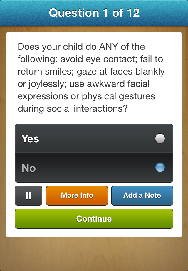 Questioning Autism? App - 3