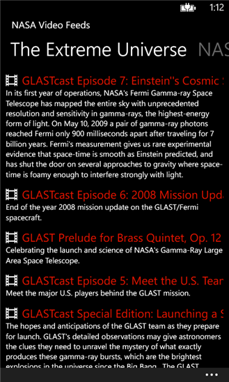 NASA Video Feeds App - 3