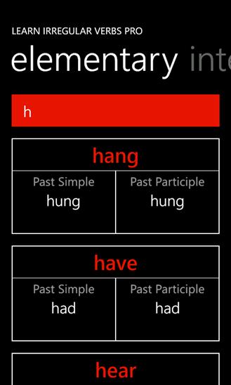 Learn Irregular Verbs PRO App - 3