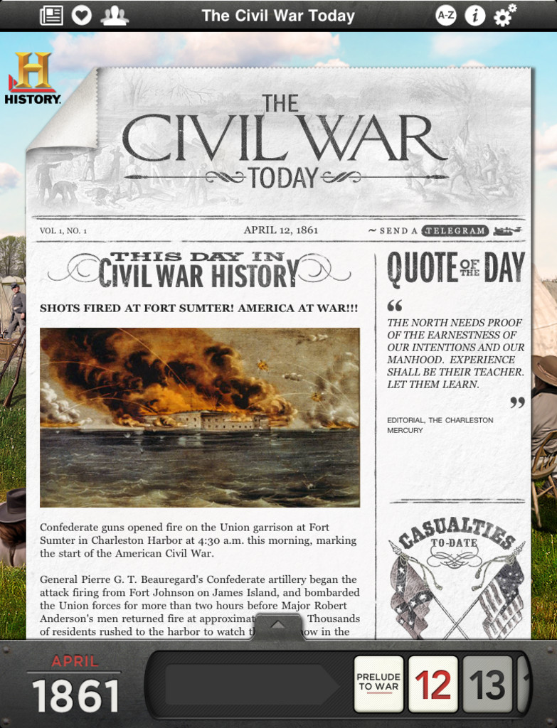 The Civil War Today App - 1