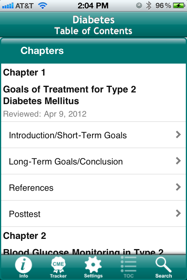 Diabetes - a Living Medical eTextbook App - 2