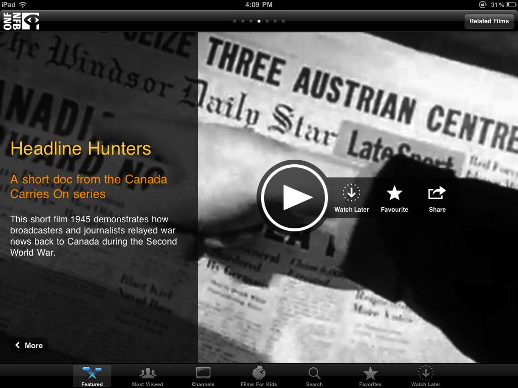 NFB Films for iPad-1