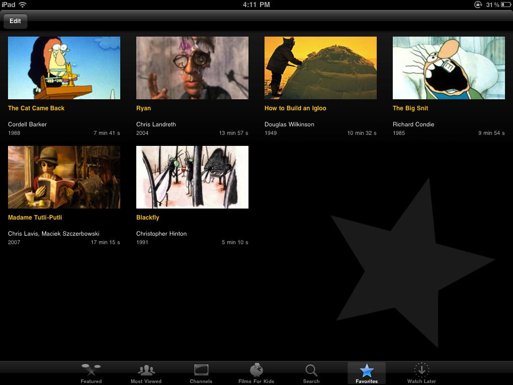NFB Films for iPad