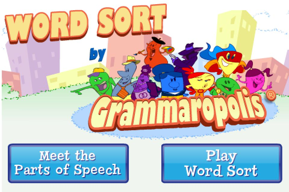 Word Sort by Grammaropolis App - 1