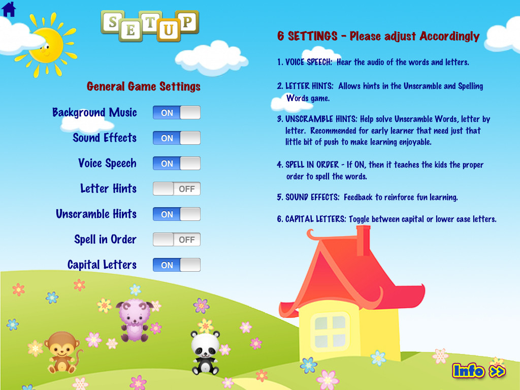 ABC Phonics Word Families Game  Free Lite - for iPad App - 2