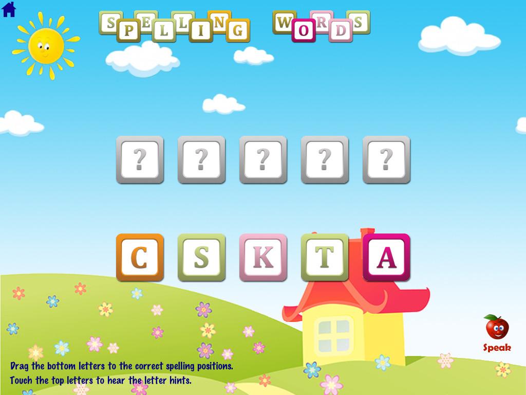 ABC Phonics Word Families Game  Free Lite - for iPad-4