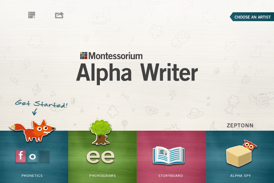 Alpha Writer, by Montessorium App - 1