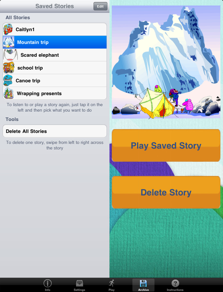 StoryBuilder for iPad App - 3