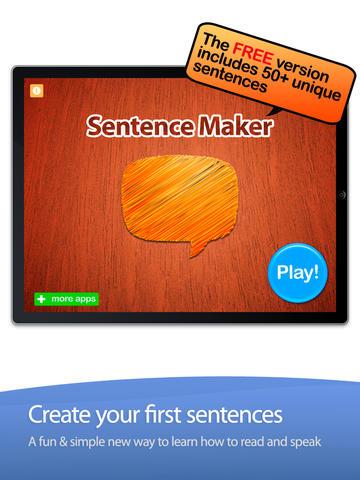 Sentence Maker App - 3