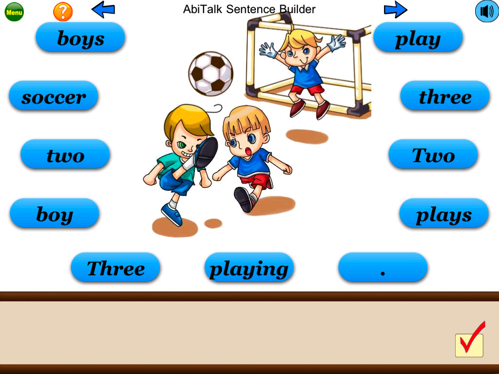 Sentence Builder Free - for kindergarten, first grade, second grade-1