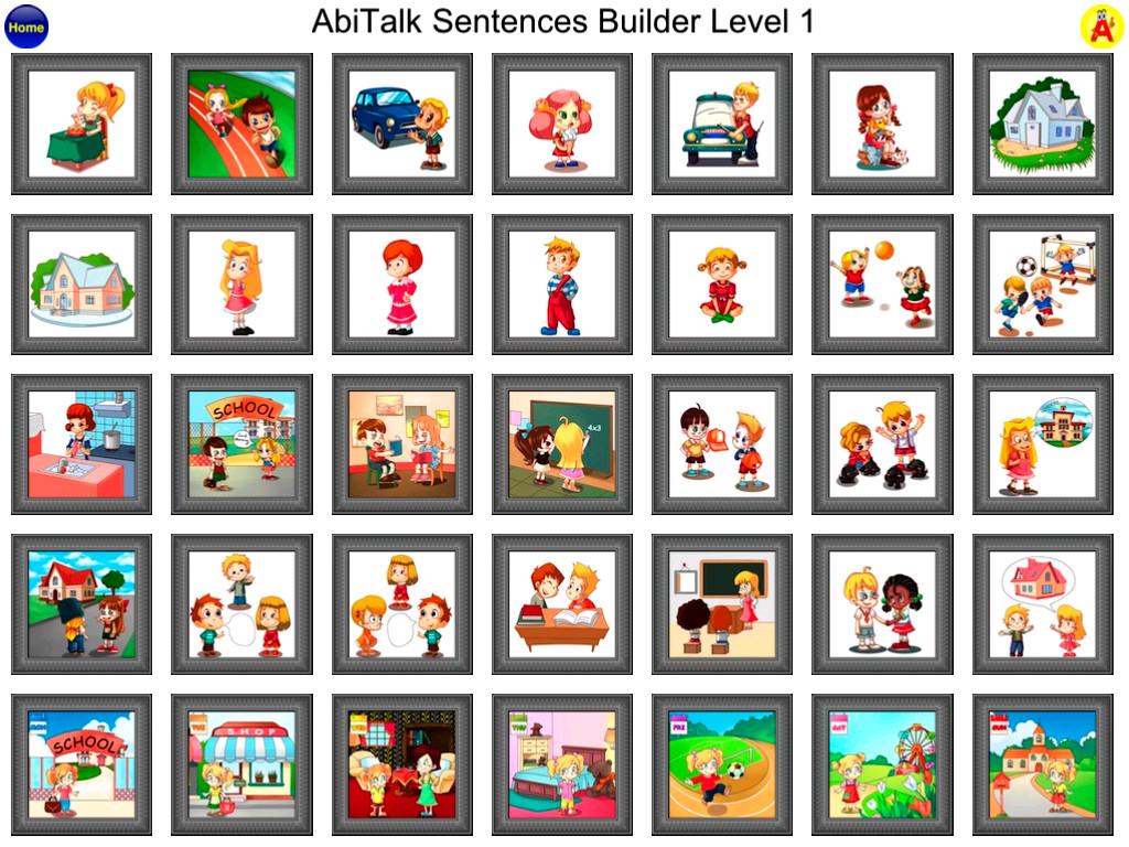 Sentence Builder Free - for kindergarten, first grade, second grade-2