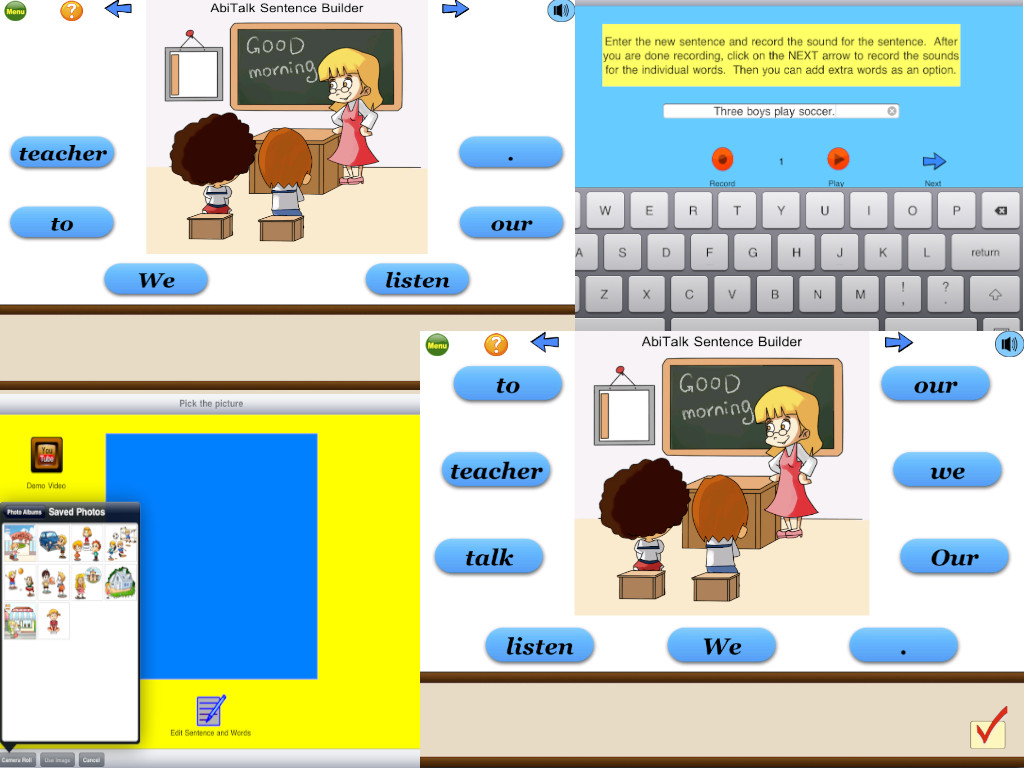Sentence Builder Free - for kindergarten, first grade, second grade-3