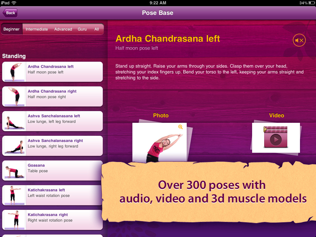 All-in YOGA HD: 300 Poses & Yoga Classes App - 3
